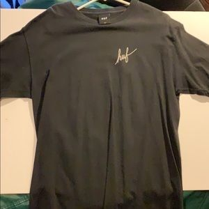 Huf Large Black T Shirt Great Condition